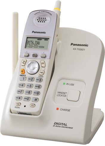 Panasonic KX TG2621W 24 GHz FHSS Digital Cordless Phone